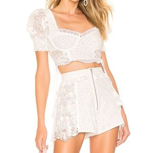 For Love And Lemons white lace set